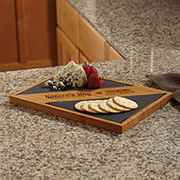Bamboo and Slate Serving Boards