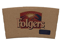 Corrugated Kraft Coffee Sleeves - Full Color