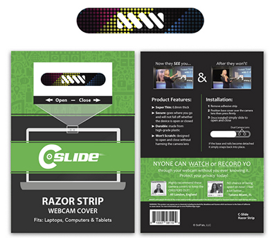 Razor Thin Strip Webcam Covers - Multi-Device