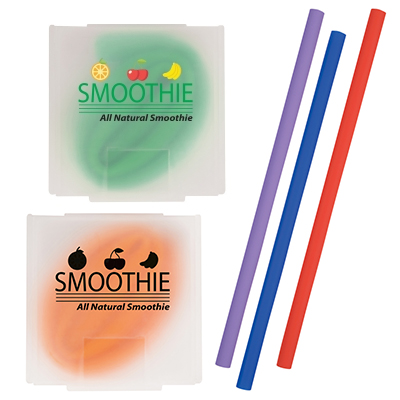 Silicone Straws in Case