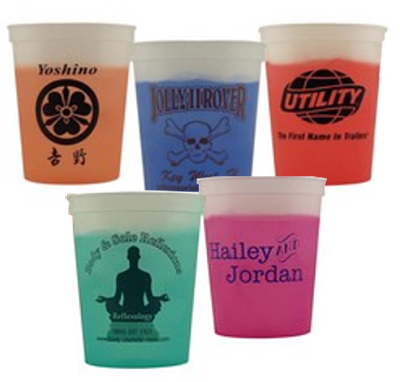 16 oz. Smooth Color Changing Stadium Cups