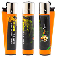 Clipper Lighters with Full Color Labels