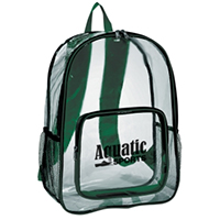 Clear Backpacks with Colored Accent