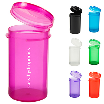 Small Flip Top Plastic Canisters