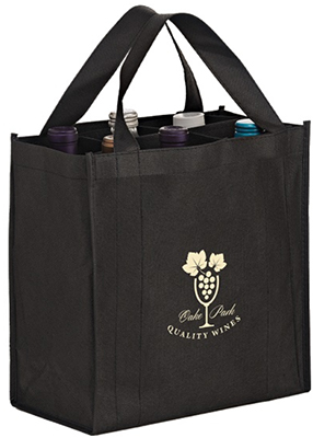 6 Bottle Wine Totes w/ Removable Divider