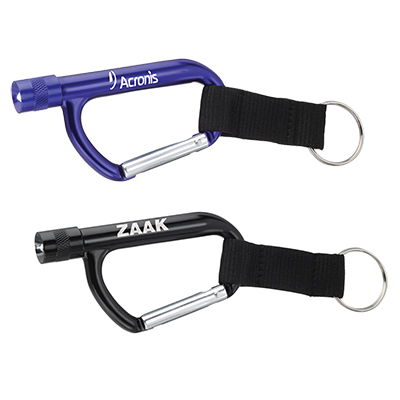 Flashlight Carabiners with Strap