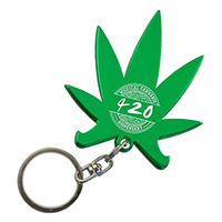 Cannabis Leaf Bottle Opener Keychains