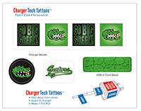 Charger Tattoos - 4.5 x 3.5 Sheet of Four