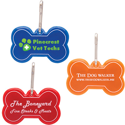 Dog Bone Reflective Collar Tags