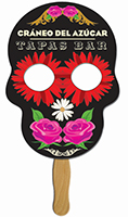 Skull Hand Fans - Full Color