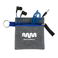 Rope Cord Earbuds in Pouch