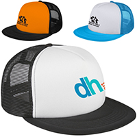 Flat Bill Trucker Caps