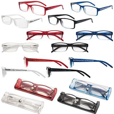 Soft Feel Reading Glasses With Matching Cases