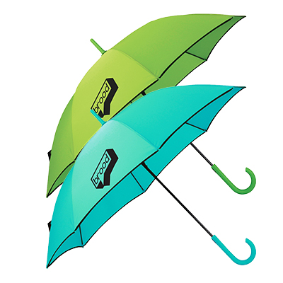 "Auto Open Colorized Fashion Umbrellas - 46"" Arc"