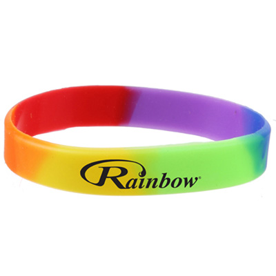 Silicone Rainbow Wristbands