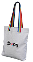 Dorothy Cotton Tote with Rainbow Handles