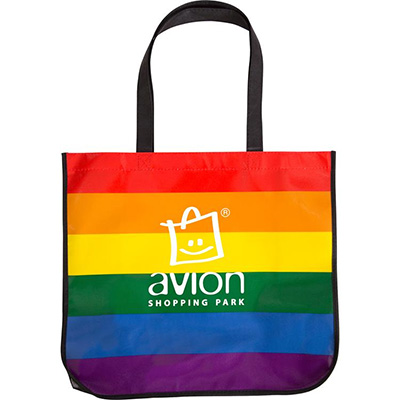Large Rainbow Laminated Totes
