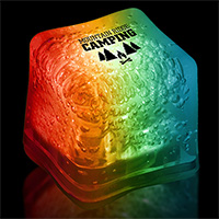 Rainbow Light-Up Ice Cubes
