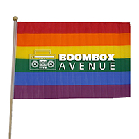 "12"" x 18"" Rainbow Cloth Pride Flags"