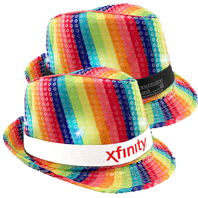Rainbow Sequin LED Fedoras