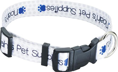 "Full Color 1"" Wide Adjustable Pet Collars"