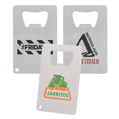 Brushed Finish Credit Card Bottle Openers
