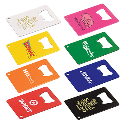 Powder Coated Credit Card Bottle Openers