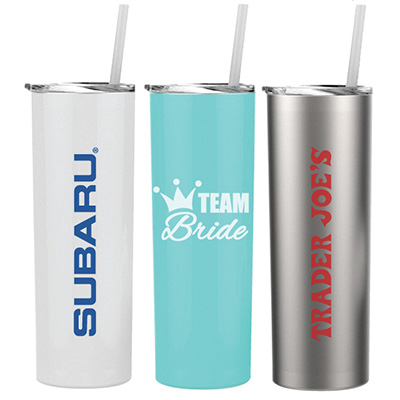 Cayman Skinny 20 oz. Stainless Steel Tumblers