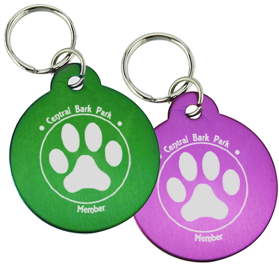 Aluminum Pet Tags - Round