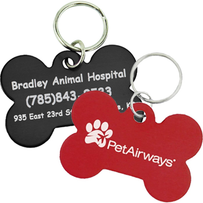 Aluminum Pet Tags - Bone