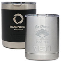YETI 10 oz. Lowball Laser Engraved Tumblers - Low Minimum