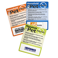 Household Pet Hazard Magnets