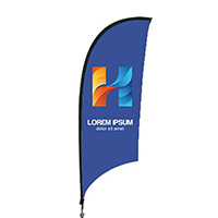 Full Color Blade Stationary Car Flags