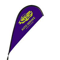 Full Color Teardrop Stationary Car Flags