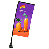Full Color Rectangle Stationary Car Flags