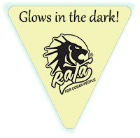 "Glow in the Dark Triangle Decals - 2"" x 2"""