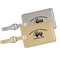 Metallic Luggage Tags
