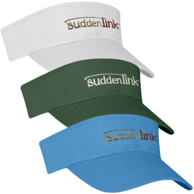 Cotton Twill Visors - Embroidered