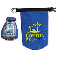 2-Liter Waterproof Gear Bags with Touch-Thru Phone Pocket