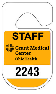 Rounded Recycled Parking Permit Hang Tags - 2.75 x 4.75