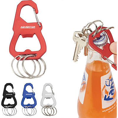 3-Piece Keyring Carabiners with Bottle Opener