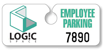 Hidden Recycled Parking Permit Hang Tags - 4.75 x 2