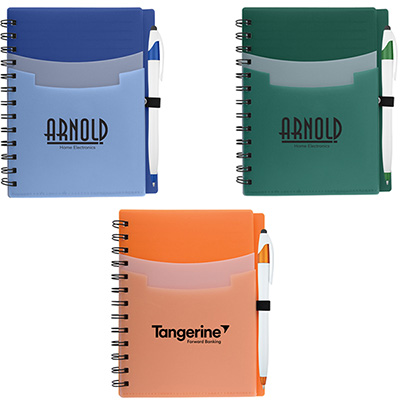 Tri-Pocket Notebooks with Pens