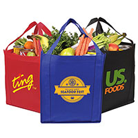 13 x 15 Saturn Jumbo Non-Woven Grocery Totes
