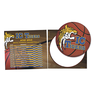 Sports Schedule Magnets with Punch Out Car Sign