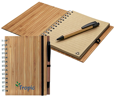 Albany Bamboo Notebooks with Pen