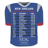 Team Jersey Sports Schedule Magnets