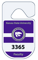 Rounded Reflective Parking Permit Hang Tags - 2.75 x 4.75