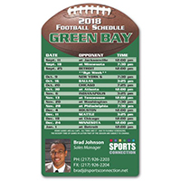 Football Sports Schedule Magnets
