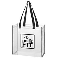 Clear Stadium Bags with Reflective Trim